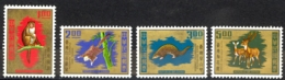 China, Republic Sc# 1716-1719 MNH 1971 Animals - Unused Stamps