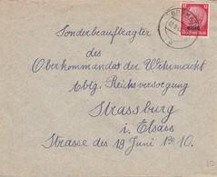 Env Affr Michel Elsass 7 Obl BRUMATH Du 2.9.41 Adressée à STRASSBURG - Poststempel (Briefe)