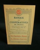 ( Economie Socialisme Coopératives COOP ) BANQUE DES COOPERATIVES DE FRANCE 1932 - Economie