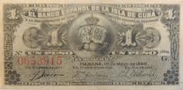Billet De Cuba 1 Peso 1896 Neuf/UNC - Cuba