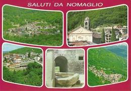 """3320 """" SALUTI DA NOMAGLIO (TO) """" 5 VEDUTE - CART. POST. ORIG. NON SPED. - Souvenir De..."""
