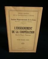 ( Economie Socialisme Coopératives Enseignement ) L'ENSEIGNEMENT DE LA COOPERATION REGION PARISIENNE Année Scolaire 1933 - Economie