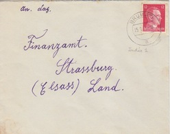 P Lettre Obl Brumath (T325 Brumath A) Sur TP Reich 12pf=1°éch Le 25/9/41 - Postmark Collection (Covers)