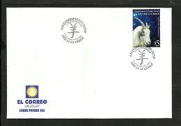 URUGUAY CHINESE CALENDAR MICHEL 2712  FDC  中國日曆 - Uruguay