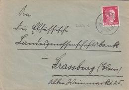 P Lettre Obl Brumath (T325 Brumath B) Sur TP Reich 12pf=1°éch Le 16/2/43 - Postmark Collection (Covers)