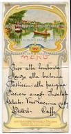 MENU NAVIGAZIONE GENERALE ITALIANA SOCIETA RIUNITE FLORI RUBATTINO STAB. A. MARZI ROMA EGITTO NILO ILLUSTRATORE E. MAV - Menu