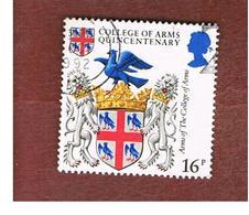 GRAN BRETAGNA (UNITED KINGDOM) -  SG 1236 -  1984 COLLEGE ARMS  - USED - 1952-.... (Elizabeth II)