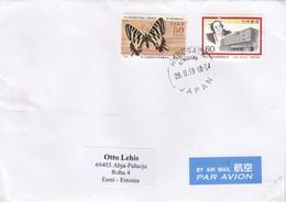 GOOD JAPAN Postal Cover To ESTONIA 2019 - Good Stamped: Architecture ; Butterfly - 1989-... Emperor Akihito (Heisei Era)