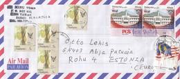 GOOD MALAYSIA Postal Cover To ESTONIA 2019 - Good Stamped: Architecture ; Flag ; Koko - Malaysia (1964-...)