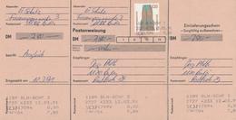 BERLIN - 12.3.91 , Postanweisung - BRD