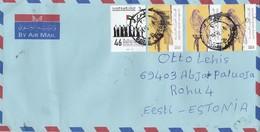 GOOD UAE Postal Cover To ESTONIA 2019 - Good Stamped: National Day ; Bird - United Arab Emirates