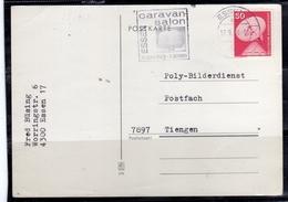 GERMANY GERMANIA ALLEMAGNE 11 9 1976 CARAVAN SALON ESSEN POSTKARTE CARD CARTOLINA SPECIAL CANCEL - Usati