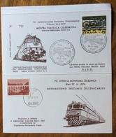 FERROVIA TRANSALPINA MOSTRA 70 ANNIVERSARIO TRENO SPECIALE  TRIESTE - BLEO 28/6/1976  EMISSIONE CONGIUNTA CON YUGOSLAVIA - Francobolli