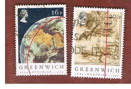 GRAN BRETAGNA (UNITED KINGDOM) -  SG 1254.1255  -  1984 GREENWICH MERIDIAN  - USED - 1952-.... (Elizabeth II)