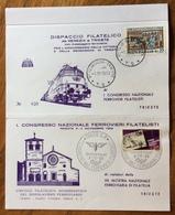FERROVIA TRANSALPINA MOSTRA 70 ANNIVERSARIO MESS.VENEZIA TRIESTE * T.S * 1/11/1969  CONGRESSO NAZ. FERROVIERI FILATELICI - Francobolli