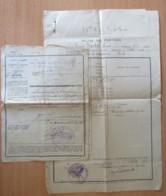 2 Documents Militaires Guerre 14-18 - Un Formulaire De Permission Et Une Relevé De Punition - 1918 Et 1921 - Documents Historiques