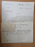 Document Du Ministère De L'Air Signé Pierre COT En 1936 + Carte De Visite Constant FAUX Capitaine Aviateur - Documents Historiques