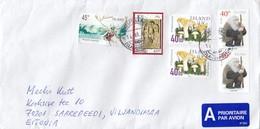 GOOD ICELAND Postal Cover To ESTONIA 2019 - Good Stamped: Christmas ; Deer ; Mushrooms - 1944-... Republic