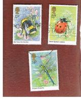 GRAN BRETAGNA (UNITED KINGDOM) -  SG 1277.1281 -  1985 INSECTS  - USED - 1952-.... (Elizabeth II)