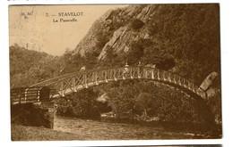 Stavelot - La Passerelle - 1924 - Edit. Albert Adam / Marco Marcovici - 2 Scans - Stavelot