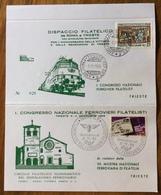 FERROVIA TRANSALPINA MOSTRA 70 ANN. AMBULANTE ROMA-TRIESTE 137 SEZ.F 1/11/1969   CONGRESSO NAZ. FERROVIERI FILATELICI - Francobolli