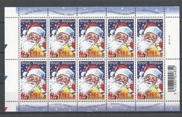 Belgique: 3466 ** En Feuillet De 10 (Le Père Noël) - Blocs 1962-....