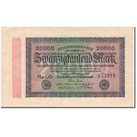 Billet, Allemagne, 20,000 Mark, 1923, KM:85b, SPL - [ 3] 1918-1933 : République De Weimar