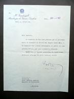 Autografo Aldo Moro Lettera Guardasigilli Ministro Giustizia Roma 1957 Clemenza - Autographes