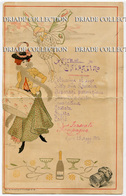 MENU ILLUSTRATORE LUCIEN METIVET CASTELLO DI COSTANTINO ROMA 25 MAGGIO ANNO 1904 DOYEN ART DECO - Menu