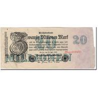 Billet, Allemagne, 20 Millionen Mark, 1923, KM:97b, TB+ - [ 3] 1918-1933 : République De Weimar