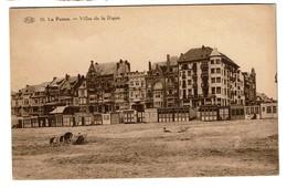 La Panne - Villas De La Digue - écrite - Edit. P.I.B. N° 10 - 2 Scans - De Panne