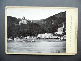 Fotografia Originale Schloss Stolzenfels Und Capellen Roepke Wiesbaden 1891 - Photographs