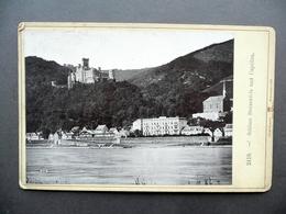 Fotografia Originale Schloss Stolzenfels Und Capellen Roepke Wiesbaden 1891 - Foto