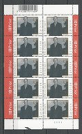 Belgique: 3289 ** En Feuillet De 10 (La Roi Albert II) - Blocs 1962-....