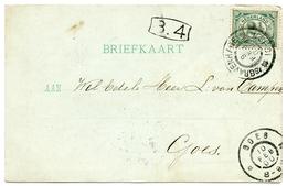 PAYS BAS : CACHET & ADDRESS - GOES, 1900 - Periode 1891-1948 (Wilhelmina)