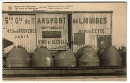 Zeebrugge - Mines Sous-marines Anglaises / Wagon Sté Gle De Transport De Liquides 43 Rue De Provence Paris - 2 Scans - Guerra 1914-18