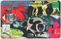 MADAGASCAR A-032 Chip Telecom - Flora And Fauna Of Madagascar - Used - Madagascar