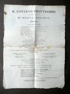 Grida Governo Provvisorio Modena Reggio 1831 Deposizione Nomina Giudici Cariche - Non Classificati