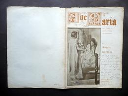 Spartito Ave Maria Voce E Pianoforte Harmonium Angelo Tortone 1941 Autografo - Non Classificati
