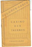 Saison 1937 - Bourbon-Lancy - Casino Des Thermes - Programme - 5 Scans - Programmi
