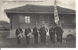 VALAIS LENS SIERRE SOCIETE DE TIR - Prise Du Drapeau De L'ancienne Cible Le 01.08.1912 - A. Trüb Lausanne - Pas Circulé - VS Valais