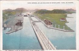 PANAMA CANAL GENERAL VIEW OF MIRAFLORES LOCKS  VG   AUTENTICA 100% - Panama