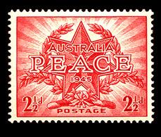 Australia , 1946 Peace 2.5d.  No Watermark,  MNH ** - Australia