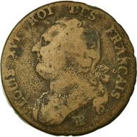 Monnaie, France, 12 Deniers Français, 12 Deniers, 1792, Strasbourg, TB, Bronze - 1789-1795 Monnaies Constitutionnelles