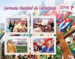 Sao Tome  2016  World Youth Day   ,Pope Francis; Pope John Paul II - Sao Tome En Principe