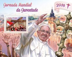 Sao Tome  2016  World Youth Day   ,Pope Francis - Sao Tome En Principe