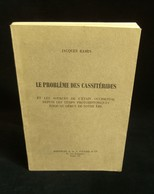 ( Géologie étain ) LE PROBLEME DES CASSITERIDES Jacques RAMIN 1965 - Sciences