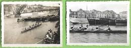 Gaia - Porto - 2 REAL PHOTOS - Regata No Rio Douro Em 1948 E 1949 - Portugal - Porto