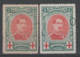 BELGIQUE - 1915 - * - COB 132 - Croix Rouge - Taches De Rouilles - - 1914-1915 Red Cross