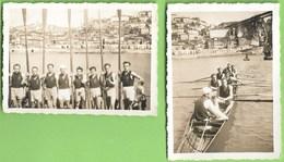 Gaia - Porto - 2 REAL PHOTOS - Regata No Rio Douro Em 1948 - Portugal - Porto